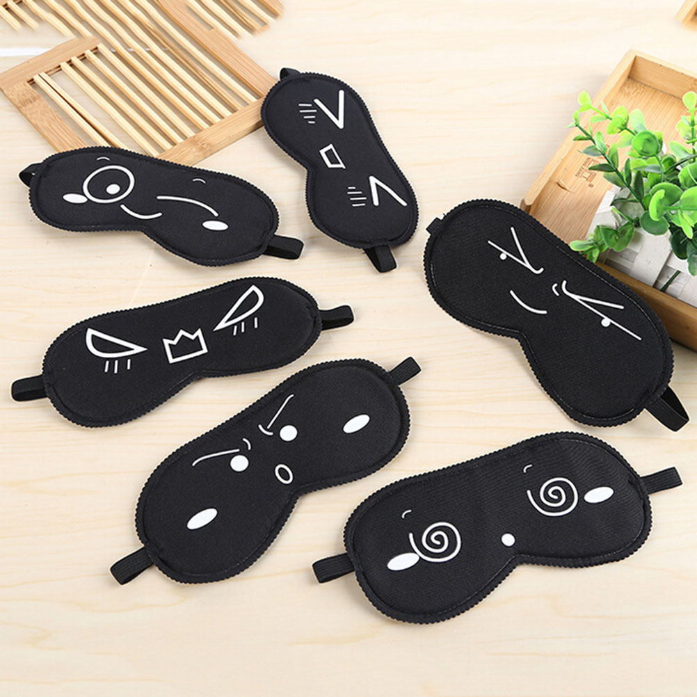 1pc Sleeping Eye Mask Black Eye Shade Sleep Mask Black Mask Bandage On Eyes For Sleeping Emotion Sleep Mask