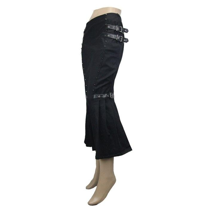 Trompeta Nueva Punk Devil Mediados Remaches Llegada De Casuales Verano De becerro Del Resorte Negro Faldas Black Fashion Mujeres Las 0OOq1w5