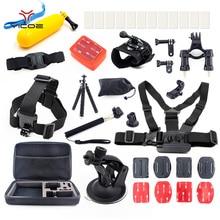 Action Sport Camera Accessories kit for Gopro Go pro hero 5 4 3 Session Xiaomi yi 4k SJ4000 SJ6 EKEN H9 Mount Tripod Stick Case