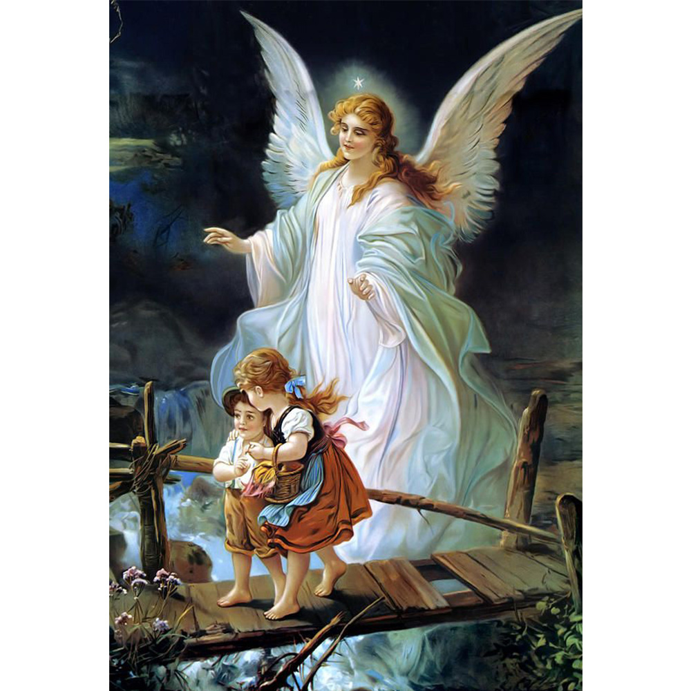5D DIY children and angel diamond painting cross stitch full diamonds embroidery religious pattern wall decoration crafts YZ144