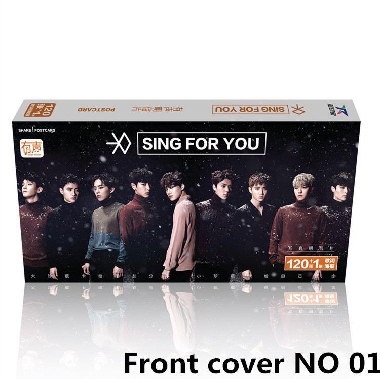 Kpop Exo Latest Album Sing For You  New Boxed In September 2016 121 Cards + K-pop Poster Exo Back Memories Stickers