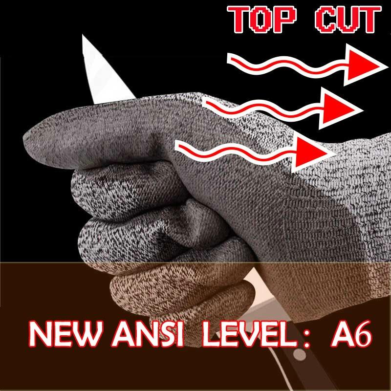 NMSafety Cut Resistant Work Glove Glass Handing Butcher Labor Glove HPPE Anti Cut Safety Glove anti cut safety glove hppe cut resistant work glove