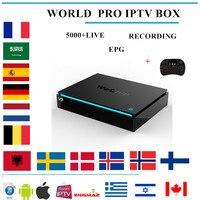 Wechip v7 Android ТВ BOX 7,1 + 5000 + LIVE IP ТВ Nordic арабский Франция Европа Нидерланды Португалии США Бразилия азии smart ТВ IP ТВ коробка