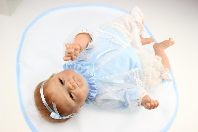 18'' Handmade Silicone Reborn Preemie Baby dolls Lifelike Doll Baby Newborn Toys For Children центральна америка