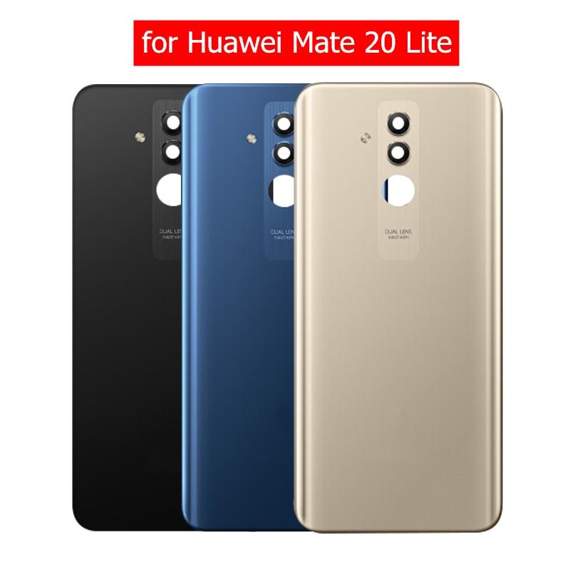 grande vendita 254b1 69976 US $17.84 15% OFF Original for Huawei Mate 20 Lite Glass Battery Back Cover  Rear Housing Door for Mate 20 Lite Camera Glass Lens Repair Parts-in ...