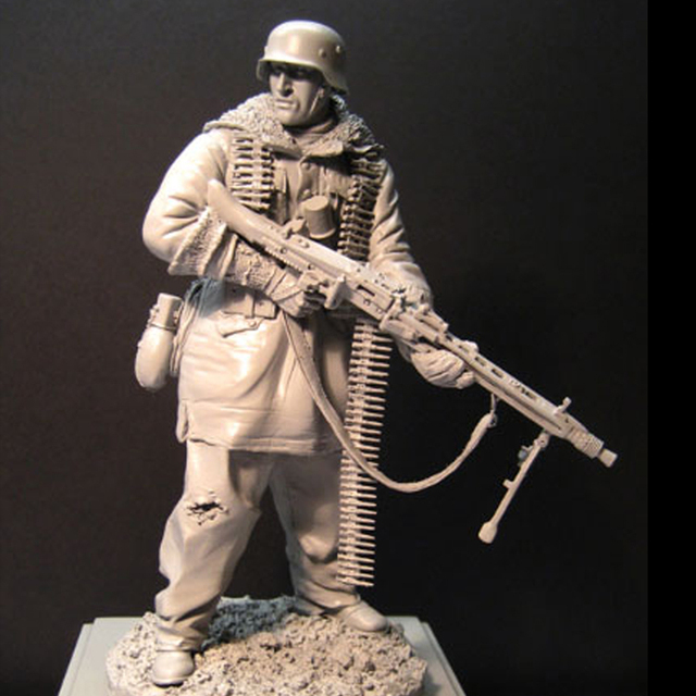 Free Shipping 1/16 Scale 120mm Unpainted Resin Figure WWII