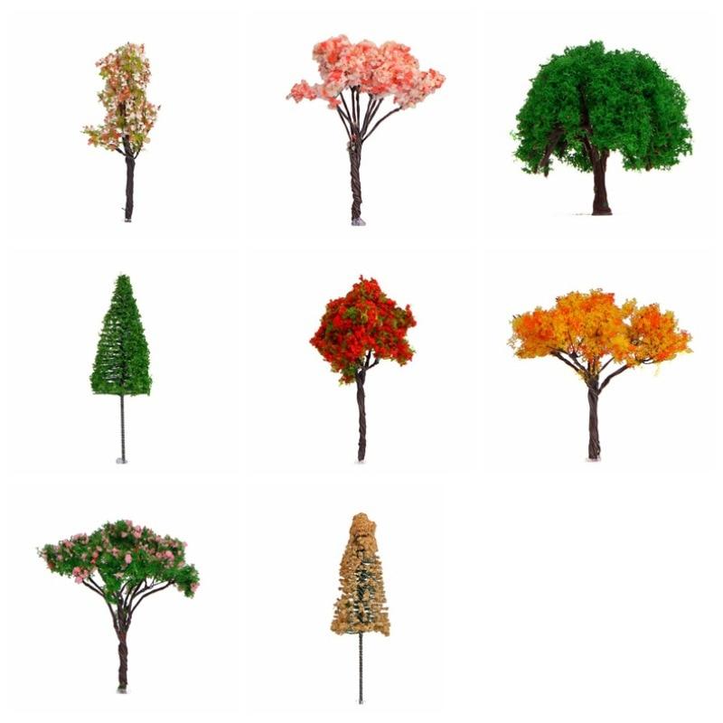 Mini Maple Tree Micro Landscape Decor Miniature Plant for Your Dollhouse Red