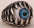 Mens evil eye anel de aço inoxidável punk rock partido jóias presentes de aniversário para o pai dele dropshipping por atacado tom de prata R31