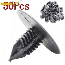 50 pçs 10mm para toyota vw renault rebites de plástico fixadores porta fender amortecedor capa push pin clipes clipe