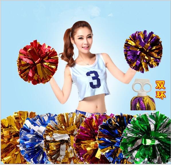 cheerleading juichende pom poms Toepassen op sportwedstrijd en vocaal concert Kleur kan gratis combinatie Game pompoms Goedkoop praktisch