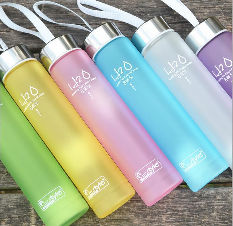 6 Colores Mate H2O Irrompible a prueba de Fugas botella De Plástico 280 ML botel