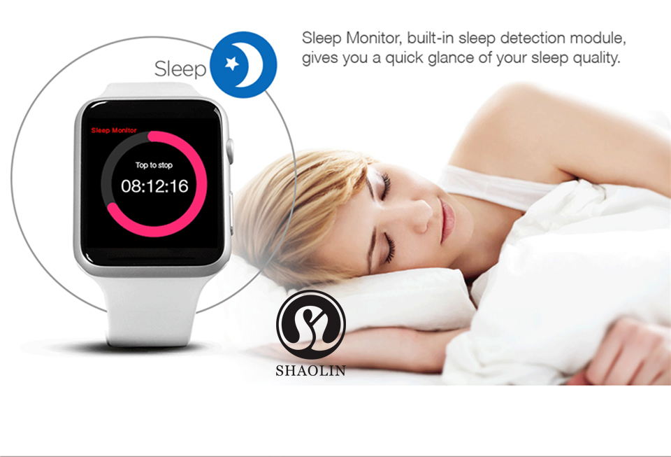 SHAOLIN Bluetooth Smart Watch Heart Rate Monitor Smartwatch Wearable Devices for iPhone IOS and Android Smartphones apple watch-10