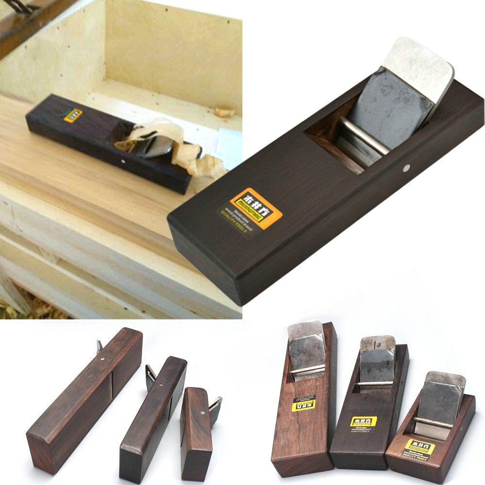 1 stücke/3 stücke holz hand flugzeug ebenholz holzbearbeitung