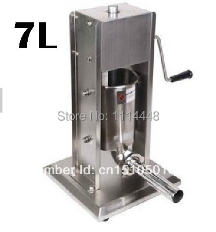 Manual Stainless Steel Sausage Stuffer Sausage Maker Sausage Filler 7L economic s steel manual s series sausage filler for hotel butcher home use and hunters