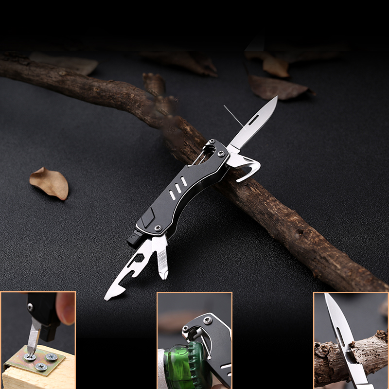 Multifunctional Outdoor Edc Tool Pocket Camping Knife Folding Survival Hunting Portable Fruit Knife Window Breaker Hand Tools Fast Color Hand Tool Sets