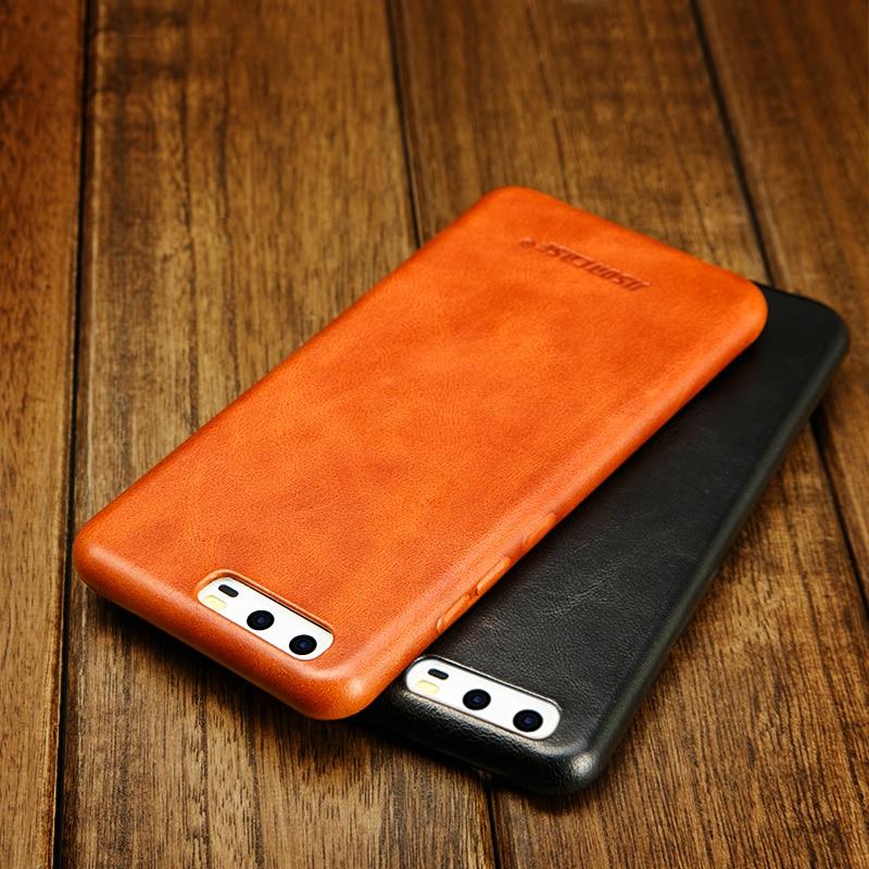 imágenes para Jisoncase para el caso de Huawei Huawei P10 P10 más casos de la cubierta genuina capas de cuero delgado duro para huawei p10 plus teléfono móvil funda