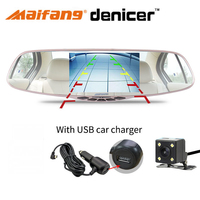 5 Dual Camera Rearview Mirror FHD 1080P 30Fps Rear View Camera 170 Degree Dash Camera G Sensor Car Camcorder Dvr Mirror