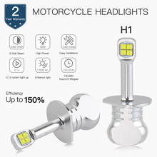 NICECNC 1500LM/пара светодиодный Buld лампы фар для Ducati Multistrada 1100 Piaggio MP3 250 400 Yamaha CP250 Morphous YZF-R1 YZF R1