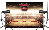 Spectacular Filled The Audience Basketball Court Photography Background Light Backdrop   Photo     Studio   150x220cm Basketball