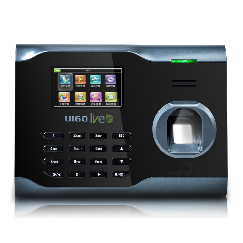 ZK U160 Fingerprint Time Attendance WIFI TCP/IP Fingerprint Time Clock k14 zk biometric fingerprint time attendance system with tcp ip rfid card fingerprint time recorder time clock free shipping