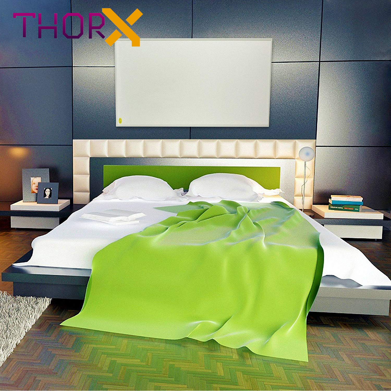 Image 5 - ThorX K300 300Watt 50*60cm Infrared Heating Panel With Carbon Crystal Technology-in Electric Heaters from Home Appliances