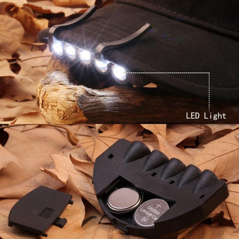 5 Led Hunting Hat Clip Light 6