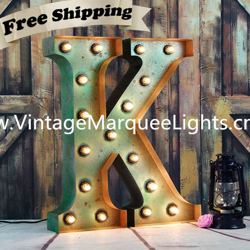 Channel Sign Capital Letter Light Is A 24 Inch Vintage Marquee Lights Letter K And All Free Shipping Light Board Light Damaged Cars For Salelight Dashboard Aliexpress