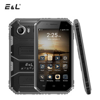 E&L W6 4G LTE IP68 Smartphone Android 6.0 MTK6735 Quad Core 1+8G Waterproof Dustproof Shockproof Phone 4.5 Inch Mobile Phone