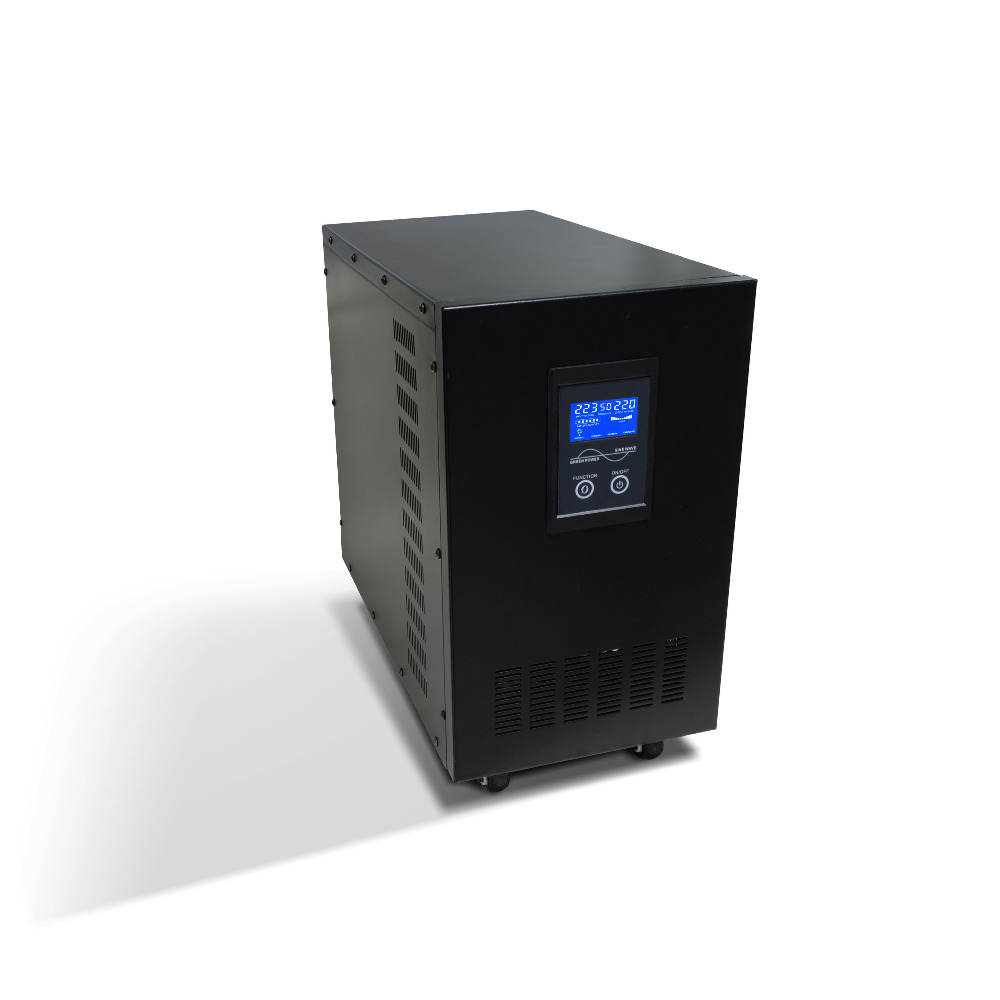 Line Interactive LCD inverter ups 6kva ups 12v/24v/48v to 110v/220v/230v inverter 1pcs lot sh b17 50w 220v to 110v 110v to 220v