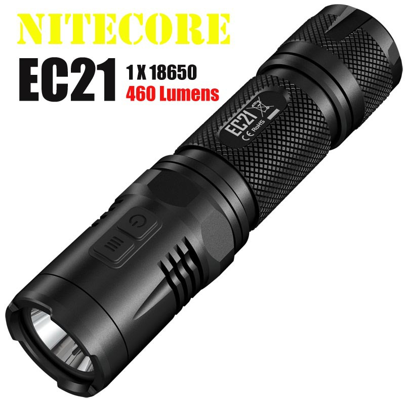 2014 New Nitecore EC21 LED Flashlight CREE XP G2 (R5) LED 460 Lumens 194 Meters Distance Torch Power by 18650 or CR123 Battery