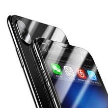 Полный охват фильм Стекло 360 градусов спереди Экран назад охват 9 H закаленное Стекло Плёнки царапинам Экран Стекло для iphone X