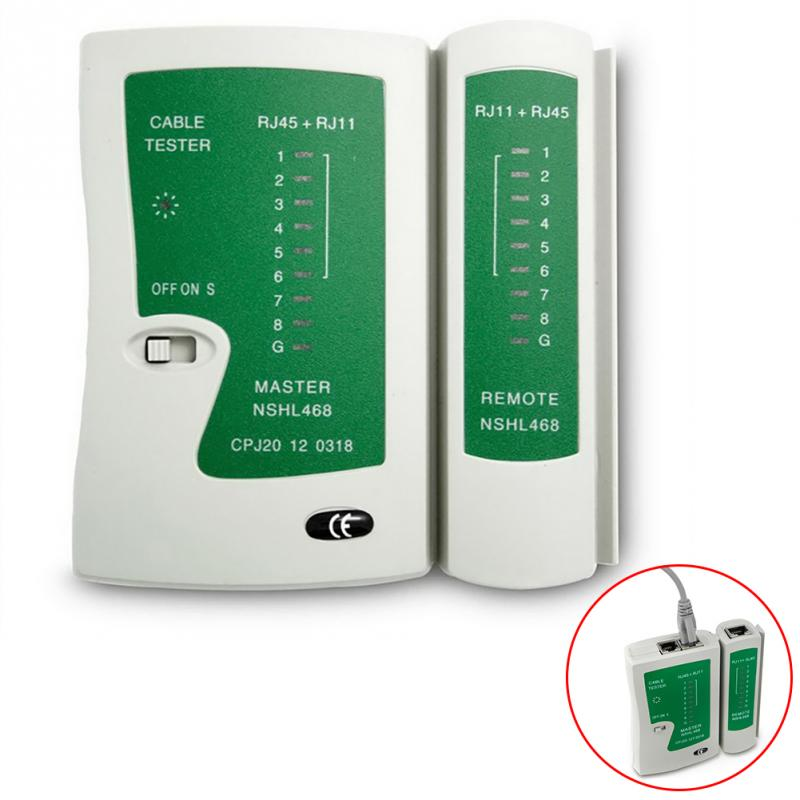 Professional Network Cable Tester RJ45 RJ11 UTP LAN Cable Tester Networking Tool Handheld Wire Telephone Line Detector