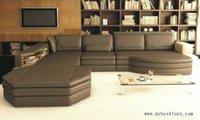 Coffee Color Sofa Set Customized Color Size Home Furniture Leather Sofa S8565