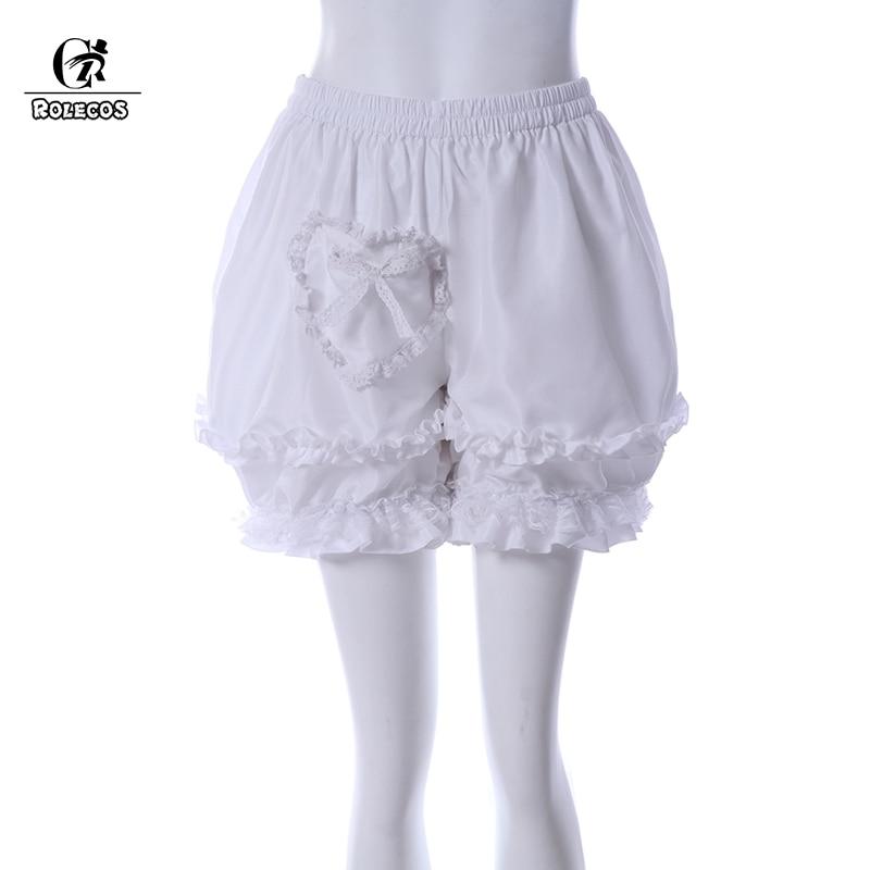 ROLECOS Sweet Pumpkin Bloomers Safety Short Pants Heart Cotton Pumpkin Women Shorts for Girl Lolita Pumpkin Bloomers
