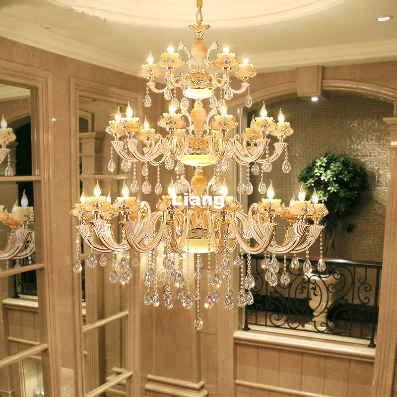 Dining Room Modern Crystal Chandeliers: Europena Crystal Chandelier Luxury Living Room Decoration