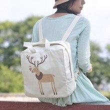 Мода опрятный стиль JK школьный холст плечи мешок для девочек тоторо пикачу кот печать свободного покроя лолита рюкзак