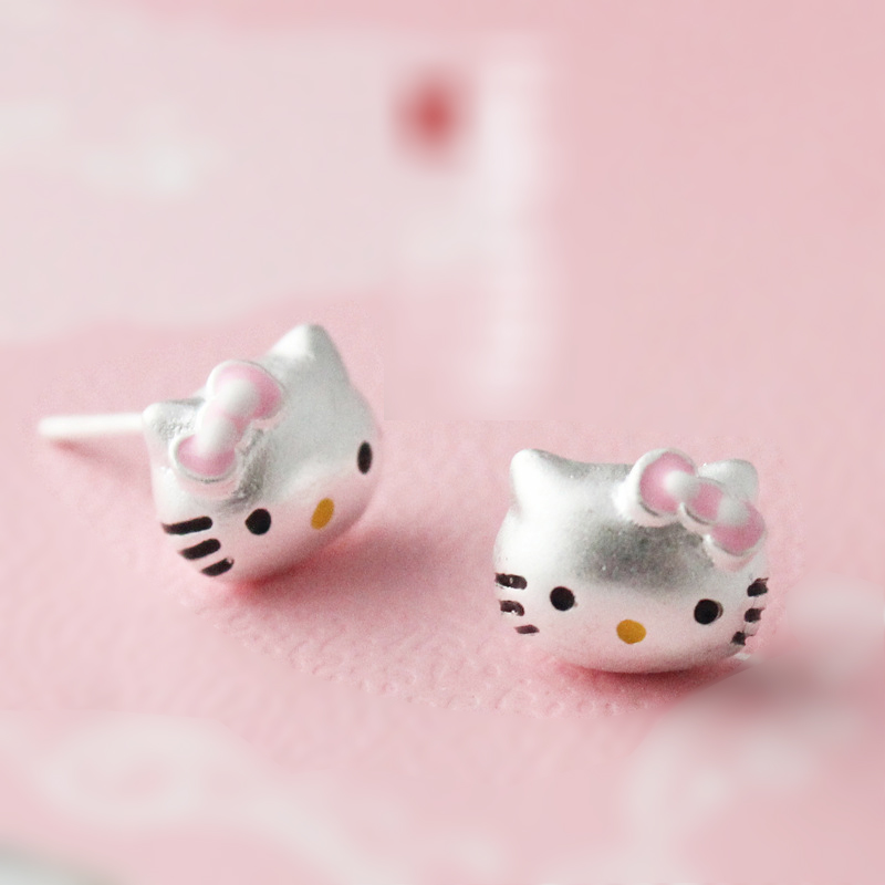 new arrival fashion 925 sterling silver cat stud earrings