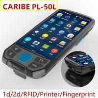 Caribe PL-50L Fast scan industrial 2d laser flatbed barcode scanner for inventory detection android pda option UHF rfid
