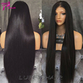 8A Beauty Plus Glueless Full Lace Human Hair Straight Wigs With Baby Hair 130Density Virgin Peruvian Lace Front Human Hair Wigs