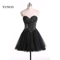 Custom Made Charming Black Cocktail Dresses Sweetheart Beautiful Homecoming Dresses 2018 Hot Sale Party Dresses