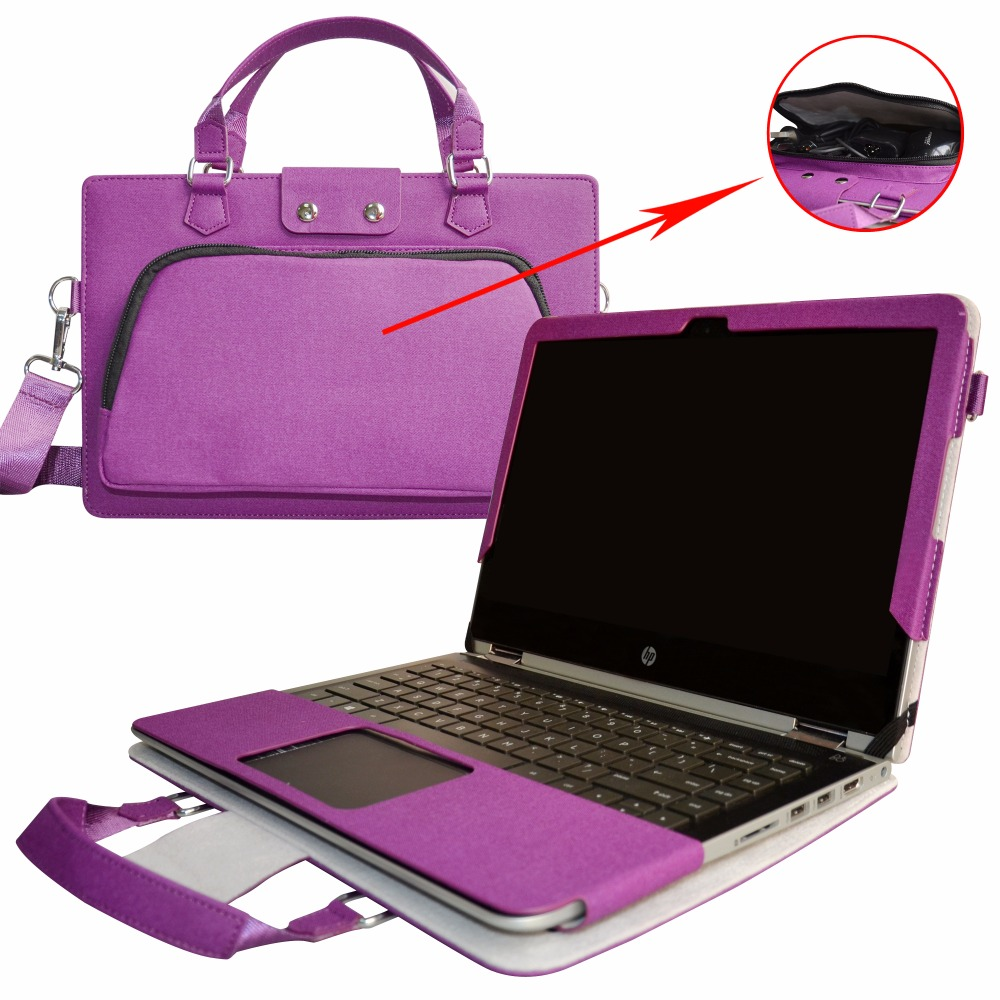 2 in 1 Accurately Designed Protective PU Leather Cover + Portable Carrying Bag For 13.3 HP Spectre x360 u000 series Laptop ...