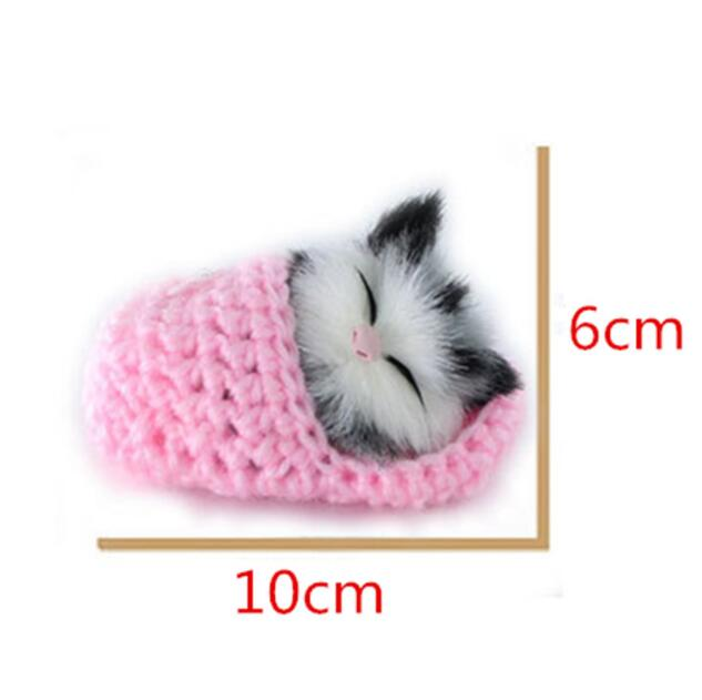 1pc Mini Lovely Simulation Sounding Shoe Kittens Cats  Plush Toy Sleeping Cats Toy Kids Appease Doll Birthday Gift Doll