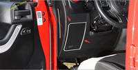 High Quality ! interior For Jeep Wrangler 2011 2017 Stainless Steel Dashboard Side Speaker Cover Trim Molding Garnish 2 pcs