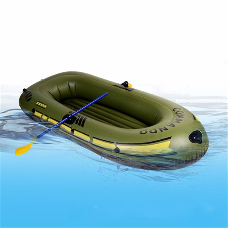 1/2/3- 4 Inflatable Boat Fishing Boat Raft PVC kayak Rowing Boat Paddle Oar Pump Seat Cushion Bag Protable Rubber Boat oar toddler