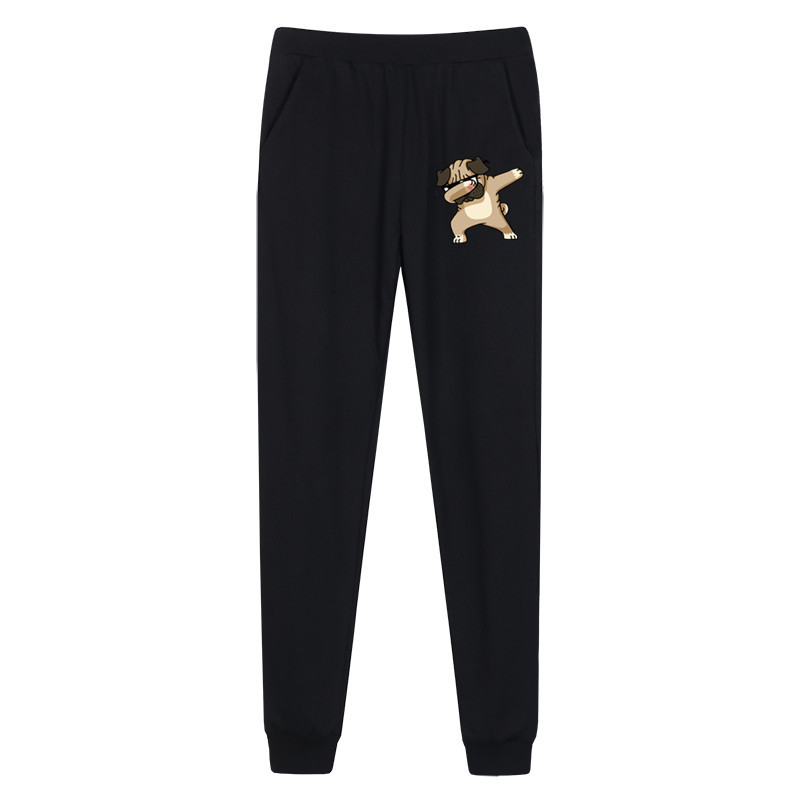 Boys funny pug Dabbing long pants girl thin cotton trousers Kids cartoon spring sweatpants boy pant 2