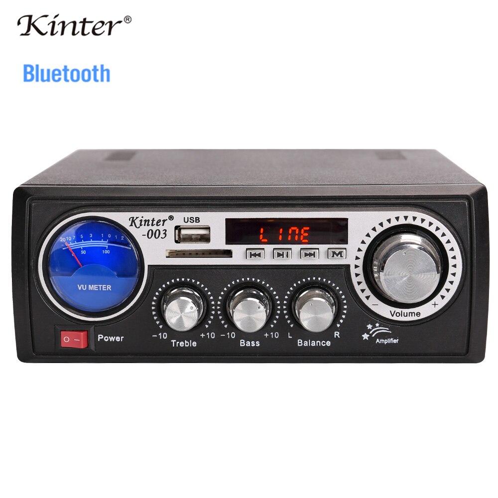 Kinter 003 мини усилитель аудио с Bluetooth SD USB ввод и fm радио воспроизведение стерео звук питание AC220V DC12V в домашних условиях