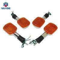 waase Motorcycle Turn Signals Blinker Indicator Bulb Light Lamp Amber For HONDA Rebel CMX 250 450 CMX250C CMX450 / Magna VF 750
