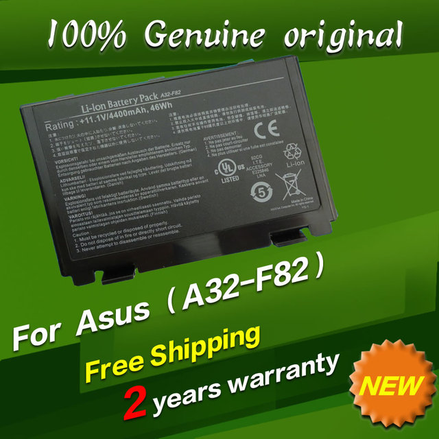 Free shipping For Asus A32-F82 A32-F52 L0690L6 L0A2016 Original laptop Battery For Asus F82 F83S K40 K40E K6C11 F52 K50 K51 K60