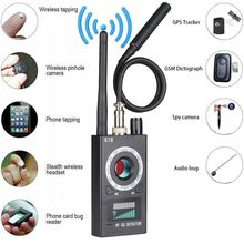 K18 Multi-function Anti-spy Detector Camera GSM Audio Bug Finder GPS Signal Lens RF Tracker Detect Wireless Products 1MHz-6.5GHz цена