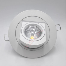 Free Shipping Adjustable 10W/15W Warm Cold White COB LED Gimbal Embedded led trunk lamp Round shoplighter AC85-265V